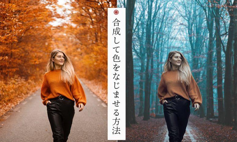 Photoshopで合成!- 切り取った画像と背景の色合いをなじませる手順